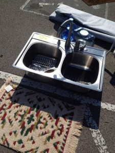 Last year's Yard Sale included everything AND the kitchen sink.